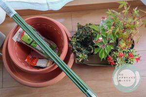 残りの植物とガーデニング関連品
