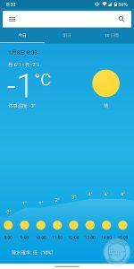 表示された気温